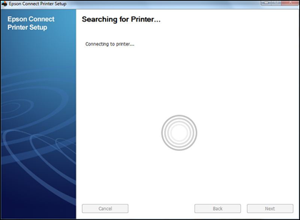 searching for printer