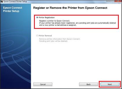 printer registration