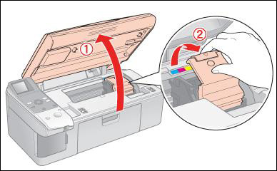 Open printer lid
