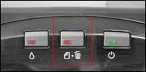 Printer with seperate Ink and Paper buttons